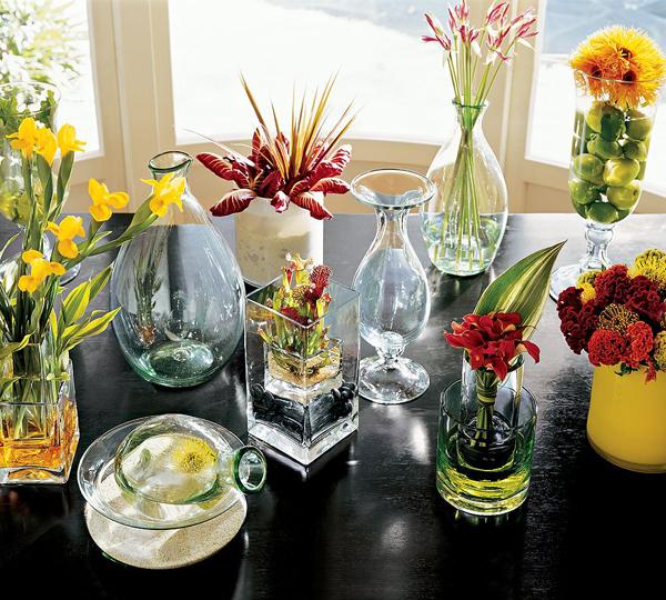 Чем наполнить прозрачную вазу для декора фото